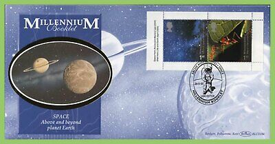 G.B. 2000 Life & Earth booklet stamps Benham First Day Cover, Leicester