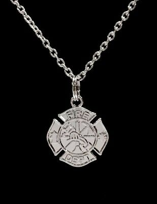 e0bc7822f Firefighter Necklace Maltese Cross Fireman Wife Department Gift Jewelry