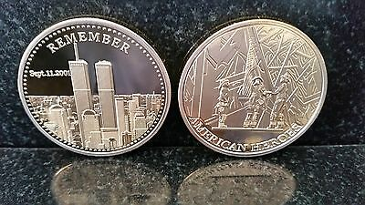 HEROES 911 September 11th New York City United we Stand Man USA 1oz gold Coin