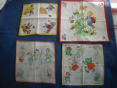 4 - Vintage - Children's Handkerchiefs - 2  Pinky And Perky -