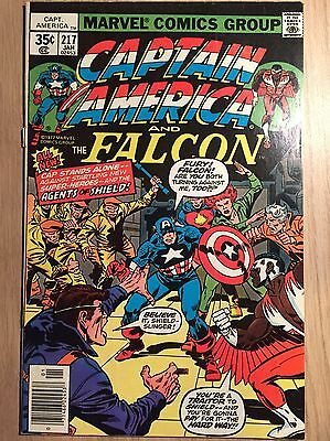 Captain America #217 FN+ 6.5 First Appearance of Quasar (as Wendell Vaughn Marve