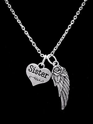 Memorial Necklace Mom Guardian Angel Mother In Heaven In Memory