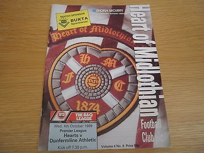 Hearts v Dunfermline 4 October 1989