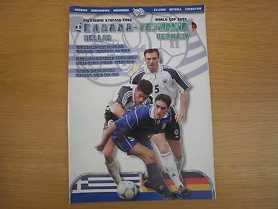 Greece v Germany 28 March 2001 World Cup Qualifier