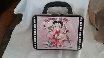 1999 Betty Boop Pink And Black Square Lunchbox