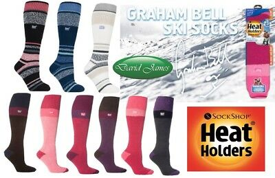 Graham Bell GENUINE Thermal Winter Warm Ski Heat Holders Socks UK 4-8 / 37-42