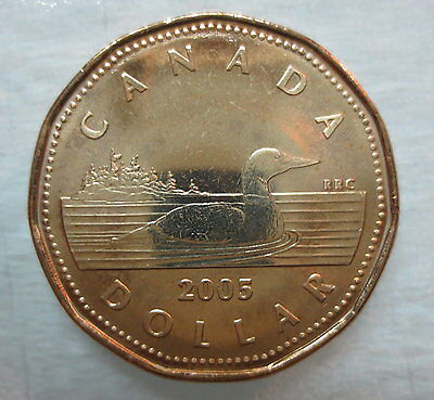 Canada 2005 Loonie Brilliant Uncirculated Dollar
