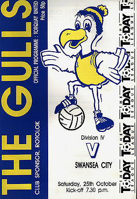 1986/87 Torquay United v Swansea City, Division 4, PERFECT