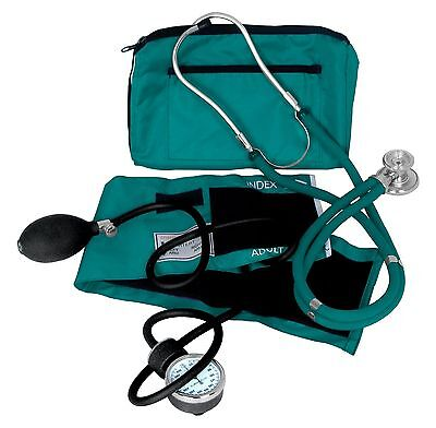 Dixie Ems Professional Blood Pressure Kit W/ Sprague Stethoscope Teal