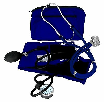Dixie Ems Professional Blood Pressure Kit W/ Sprague Stethoscope Royal Blue