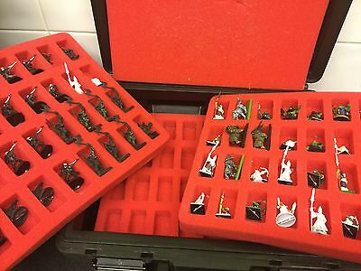 Games Workshop 3-Tier Army CARRY CASE Warhammer with figures