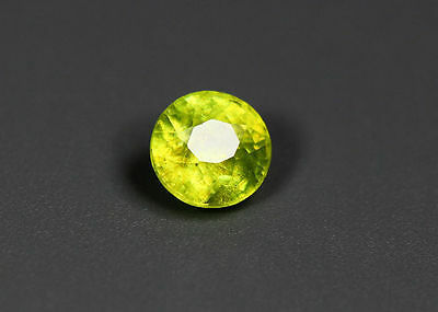 0.42 Cts_Simmering Ultra Nice Color Gemstone_100 % Natural Green Sphene
