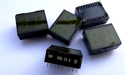 2 x VQE23E 2 digits 7-segments green LED display RFT VQE 23 E (2 pieces)