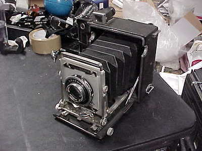 Vintage Graflex Crown Graphic 4X5 Camera With Optar F/4.7 135Mm Lens & Kalart
