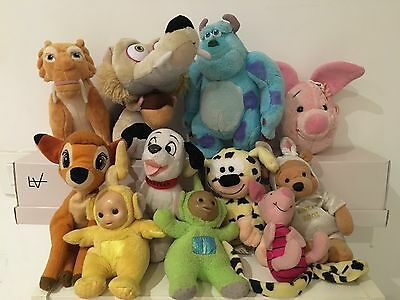 Lot De 11 Peluches Disney  , L' Age Des Glaces , Marsupilami , Winnie ...