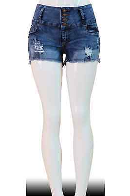 Stretch Push-Up Colombian  Levanta Cola Shorts Jeans  N2810SH