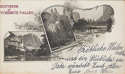 YOSEMITE VALLEY ~ VERY EARLY PRIVATE MAILING POSTCARD ~ c1900