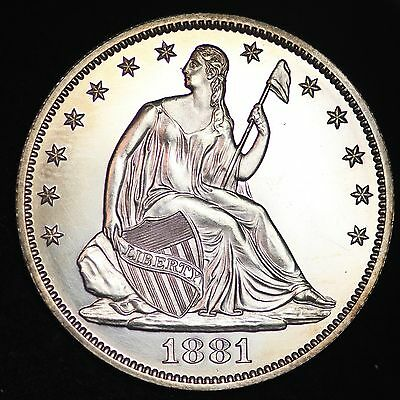 1881 Seated Liberty Half Dollar GEM PROOF FREE SHIPPING E319 FHH