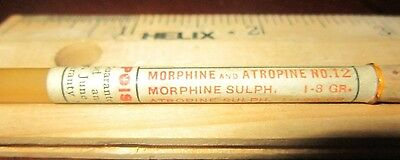 Morphine Vial ~ Sharp & Dohme Bottle ~ Apothecary Pharmacy Narcotic Druggist