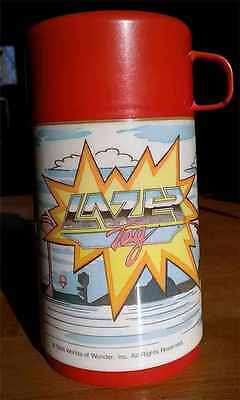 Vintage 1986 Lazer Tag Thermos for Lunchbox from Worlds of Wonder
