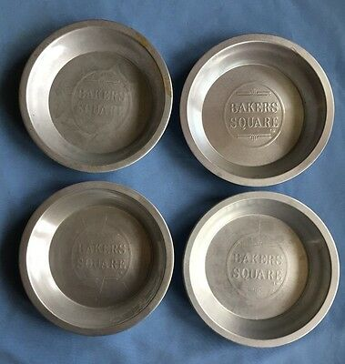 Lot of four (4) Bakers Square 8-inch Pie Tins