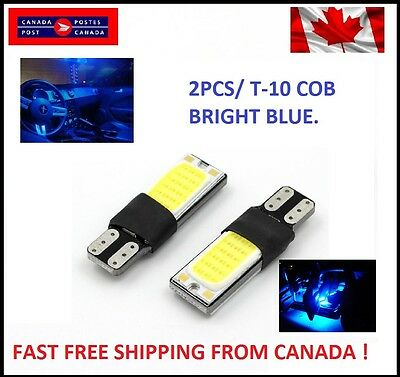 2PCS T10 BLUE W5W 194 168 6W LED No Error COB Canbus Side Lamp Wedge Light