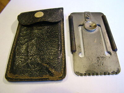 Vintage Selmer Jiffy clarinet reed cutter and scraper
