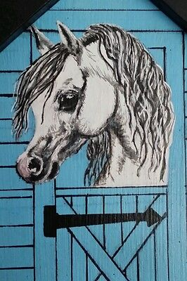 Personalised pony plaque,hand painted with hook,any name colours £12, free post