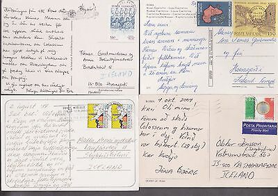 VATICAN to ICELAND Nice lot of 4 pcs postcards cover