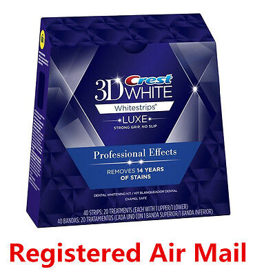Crest 3D White Luxe Whitestrips Professional Effects Whitening 20pouche 40strips