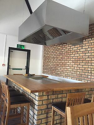 commercial stainless steel kitchen canopy fitted