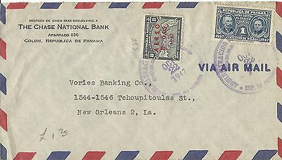 Panama 1947 Air Mail Cover To United States Used