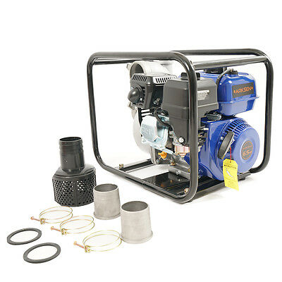 "Multi-Purpose Pump 6.5hp Gas Water Pump Semi Trash Pump 2"" Inlet/Outlet 132GPM"