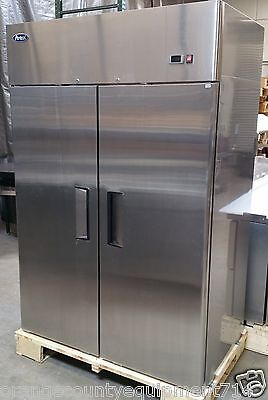 NEW 2 Door Freezer Commercial Stainless Steel NSF Reach In Atosa 8002 #1086
