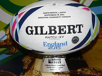 South Africa Springboks v Japan Rugby World Cup 2015 signed Match Used Ball