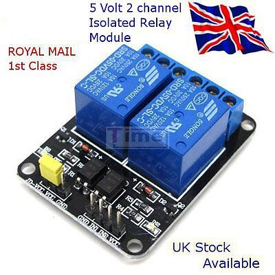 5V - 2 CHANNEL ISOLATED RELAY Module, suit: RASPBERRY Pi - ARDUINO - PIC
