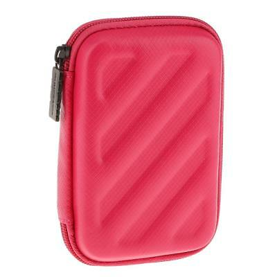 """Mini Pocket EVA Hard Carrying Case Pouch for External 2.5"""" Hard Drive Red"""