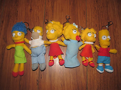 """The Simpsons Family Plush 6"""" KeyChains Keyrings"""