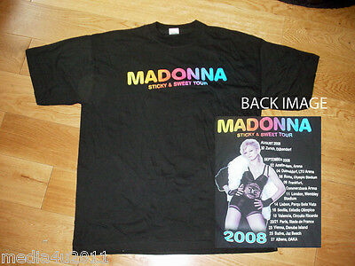 Madonna Sticky & Sweet Concert Tour T Shirt X Large New