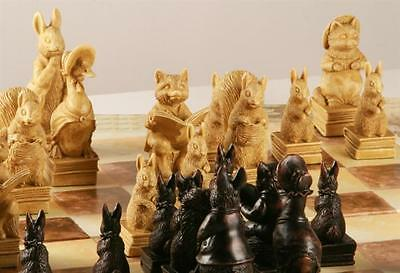 V Rare beautiful Detailed beatrix potter's peter rabbit Chess Set game pieces