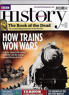 BBC HISTORY Magazine December 2010 - HOW TRAINS WON WARS Cover