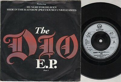 """DIO The Dio Ep Part 1  7"""" Ps, Hungry For Heaven B/W Hide In The Rainbow, Dio 7 ("""