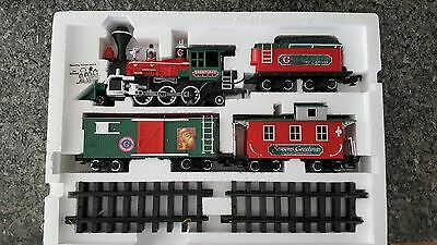 Greatland Holiday Express Train Set used, in original box. Tested. 100% complete