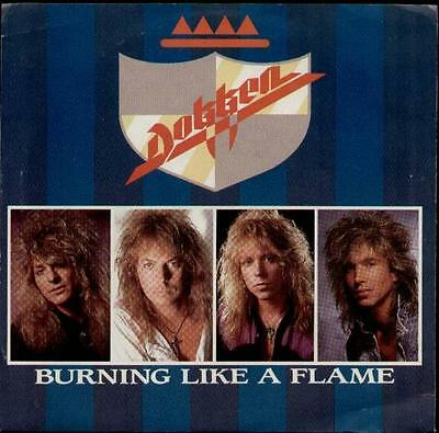 """DOKKEN Burning Like A Flame  7"""" Ps, Usa Issue, B/W Lost Behind The Wall, 7-69435"""