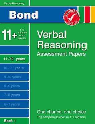 Bond Verbal Reasoning Assessment Papers 11+-12+ years Book 1 (Bond Assessment Pa