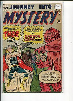 JOURNEY INTO MYSTERY 90 VG-FN  1st CARBON COPY MAN   LEE DITKO KIRBY  1963
