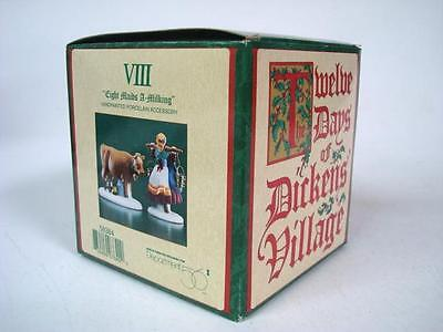 Dept 56 Twelve Days of Dickens Village Eight Maids A-Milking w/ Box