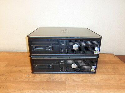 One Lot of 2 DELL OPTIPLEX 745 DCNE Core 2 Duo 2.4 GHz 4 GB Ram SD Card Reader