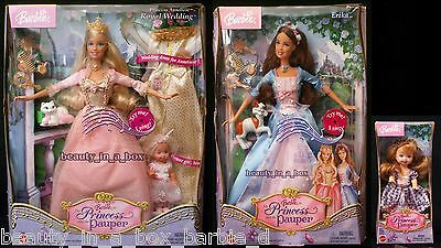 Erika Barbie Doll Anneliese Royal Wedding Giftset Kelly Princess and the Pauper.