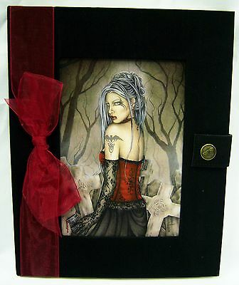 JOURNAL  Ancient One Goddess Black Velvet Blank Pages Jessica Galbreth